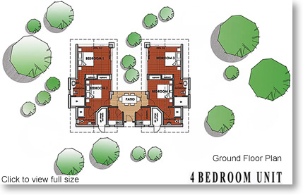 Corporate Cluster 4 Bedroom Unit Floor Plan